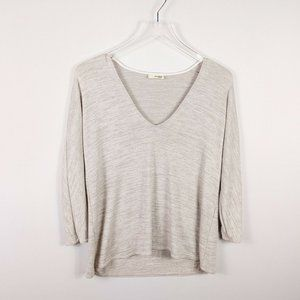 Wilfred Free Women's Blouse Size 2XS Beige Knit
